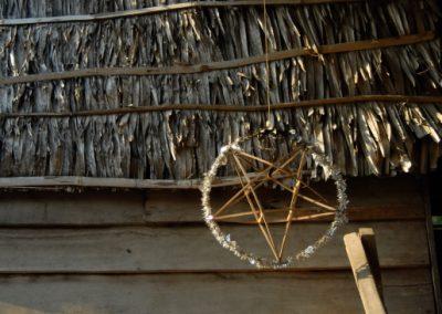 Entrée d'une maison, village de Sra Srang, province de Siem Reap.