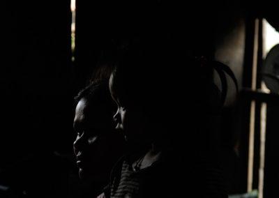 Portrait d'une mère et sa fille, village de Cheung Kok, province de Kampong Cham.