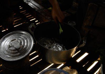 Préparation du déjeuner, village de Cheung Kok, province de Kampong Cham.
