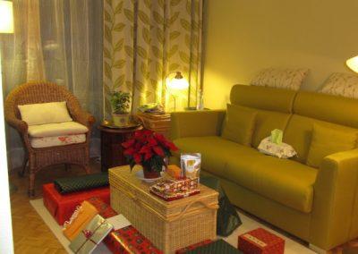Salon Noël avec baies coulissantes