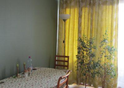 SAM avec mur de contraste vert d'eau foncé