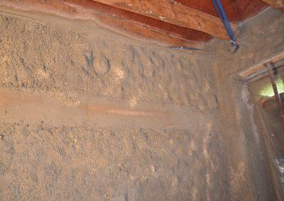 15cm de béton de chanvre y compris enrobage tasseau