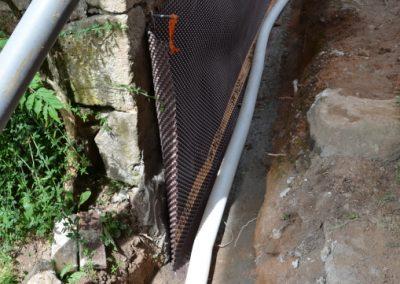 Création d'un drainage extérieur avec Delta sur le mur extérieur de la cuisine