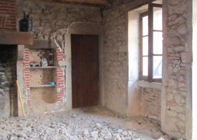 Mise à nu mur porteur et sol