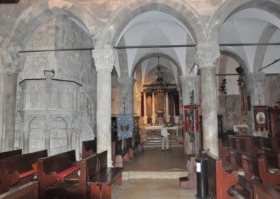 Korcula intérieur de l'église