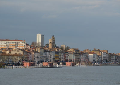 Quai de Saône en partie immergé